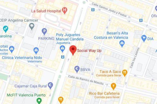 Ubicación social way up Valencia Google Maps